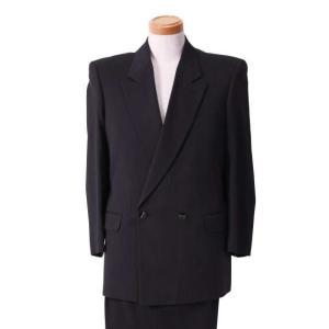 大きいサイズ メンズ セミピークダブル2ツ釦1ツ掛スーツ ブラック×パープル 1122-5350-3 2L 3L 4L|bmo