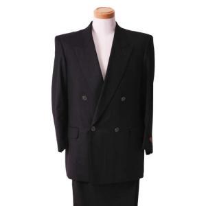 大きいサイズ メンズ ダブル4ツ釦1ツ掛スーツ チャコールグレー 1122-5356-1 2L 3L 5L|bmo