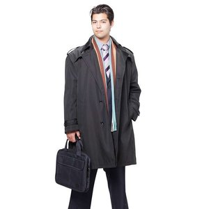 大きいサイズ メンズ MICHIKO LONDON KOSHINO ライナー付トレンチコート ブラック 1151-6320-1 3L 4L 5L 6L|bmo