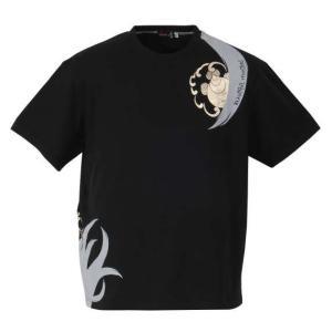 大きいサイズ メンズ 絡繰魂抜刀娘 妃那九尾半袖Tシャツ ブラック 1158-7630-1 3L 4L 5L 6L|bmo