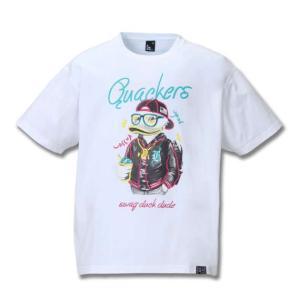大きいサイズ メンズ b-one-soul DUCK DUDE半袖Tシャツ ホワイト 1158-8150-1 3L 4L 5L 6L|bmo