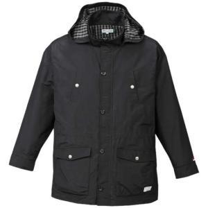 大きいサイズ メンズ H by FIGER 多機能ポケット付ハーフコート ブラック 1163-7350-1 3L 4L 5L 6L 8L|bmo