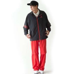 大きいサイズ メンズ adidas golf レインスーツ ブラック×レッド 1176-5210-1 4XO 5XO 6XO 7XO bmo