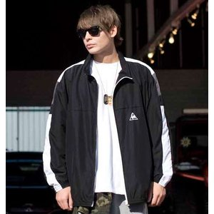 大きいサイズ メンズ LE COQ SPORTIF ウインドジャケット ブラック 1176-6150-2 3L 4L 5L 6L|bmo