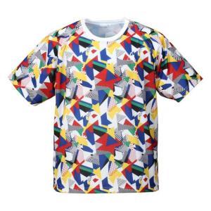 大きいサイズ メンズ LE COQ SPORTIF ジオメトリック柄半袖Tシャツ マルチカラー 1178-7310-1 3L 4L 5L 6L|bmo