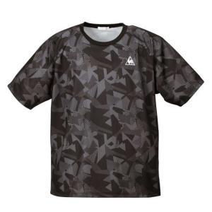 大きいサイズ メンズ LE COQ SPORTIF ジオメトリック柄半袖Tシャツ ブラック 1178-7310-2 3L 4L 5L 6L|bmo
