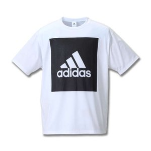 大きいサイズ メンズ adidas ビッグスクエアロゴ半袖Tシャツ ホワイト 1178-8100-1 3XO 4XO 5XO 6XO 7XO 8XO|bmo