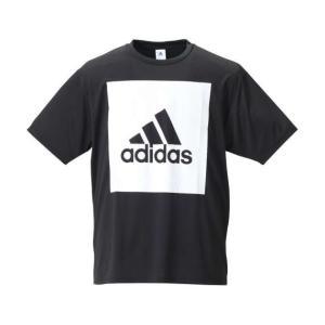 大きいサイズ メンズ adidas ビッグスクエアロゴ半袖Tシャツ ブラック 1178-8100-2 3XO 4XO 5XO 6XO 7XO 8XO|bmo