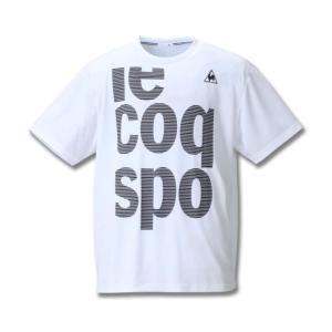 大きいサイズ メンズ LE COQ SPORTIF ソフトダブルメッシュ半袖Tシャツ ホワイト 1178-8150-1 3L 4L 5L 6L|bmo