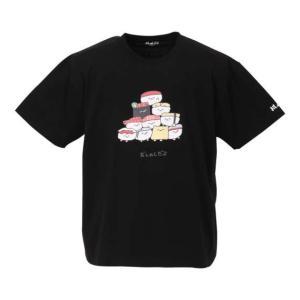 大きいサイズ メンズ おしゅしだよ 寿司 半袖 Tシャツ ブラック 1178-9248-2 3L 4...