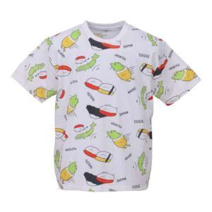 大きいサイズ メンズ おしゅしだよ JAPAN総柄 半袖 Tシャツ ホワイト 1178-9249-1...