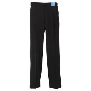 大きいサイズ メンズ 風通る スラックス ストレッチ ツータック パンツ ブラック 1274-126...