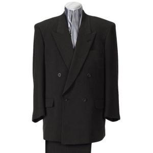 大きいサイズ スリーピース4ツ釦1ツ掛スーツ ブラック 0022-3378-1  2L 3L 4L 5L 6L|bmo
