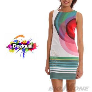 大きいサイズ レディース 42 44 Desigual デザインワンピース Cuba 41v2885|bmo