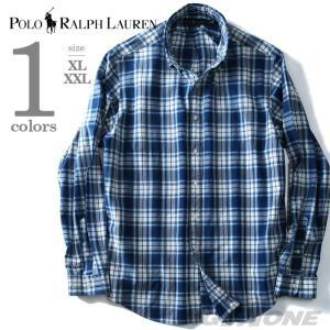 大きいサイズ メンズ POLO RALPH LAUREN ポロ ラルフローレン 長袖チェックボタンダウンシャツ USA直輸入 710673010001|bmo