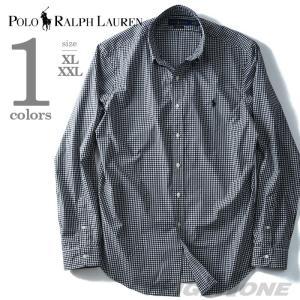 大きいサイズ メンズ POLO RALPH LAUREN ポロ ラルフローレン 長袖チェックボタンダウンシャツ USA直輸入 710673019001|bmo