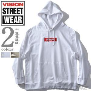 大きいサイズ メンズ VISION STREET WEAR BOX ロゴ プルオーバー パーカー 9...