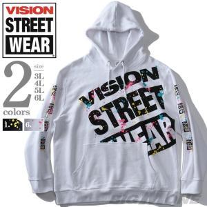大きいサイズ メンズ VISION STREET WEAR スプラッシュ プリント プルオーバー パ...