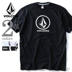 大きいサイズ メンズ VOLCOM ボルコム ロゴプリント半袖Tシャツ Fade Stone S/S Tee USA直輸入 a3511600|bmo