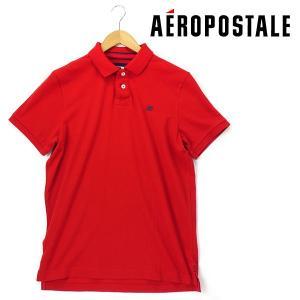 大きいサイズ メンズ XL XXL AEROPOSTALE(エアロポステール) 半袖ポロシャツ レッド USA直輸入 ap2000-703 bmo