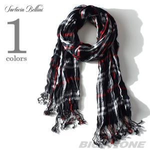 大きいサイズ メンズ スカーフ SARTORIA BELLINI チェック柄ストール azsc-021 bmo