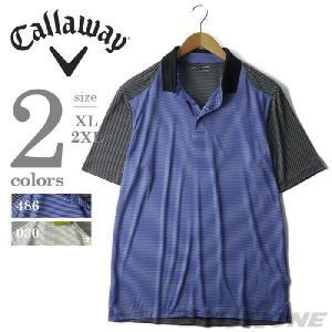 大きいサイズ メンズ XL 2XL CALLAWAY 半袖ボーダーポロシャツ USA直輸入 bfsk0016|bmo