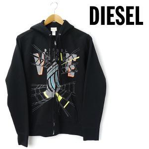 大きいサイズ メンズ XL DIESEL ディーゼル 長袖フルジップパーカー ブラック disel001-990 USA直輸入 AWSS7|bmo