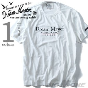 大きいサイズ メンズ DREAM MASTER ドリームマスター スラブ天竺ロゴプリント半袖Tシャツ 秋冬新作 dm-hua6199|bmo