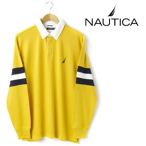 大きいサイズ メンズ XL XXL NAUTICA ノーティカ ラガシャツ イエロー kr0307-711 USA直輸入 AWSS7|bmo