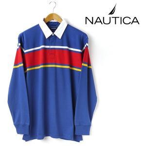 大きいサイズ メンズ XL XXL NAUTICA ノーティカ ラガシャツ ロイヤル kr0355-484 USA直輸入 AWSS7|bmo