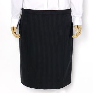 大きいサイズ レディース 23 25 27 29 31 ウォッシャブル黒シャドー2釦スーツ スカート  r121044b-3-990|bmo