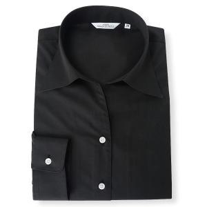 大きいサイズ レディース 21 23 25 27 29 31 34 37 ORANGE FIELD スキッパーブラックブラウスシャツ ブラック rfda03-80 bmo