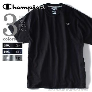 大きいサイズ メンズ XL 2XL 3XL Champion(チャンピオン) ワンポイントロゴ刺繍半袖Tシャツ JERSEY TEE USA直輸入 t2226|bmo