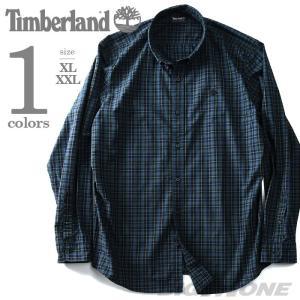 大きいサイズ メンズ TIMBERLAND ティンバーランド 長袖チェック柄ボタンダウンシャツ USA直輸入 tb0a1q61|bmo