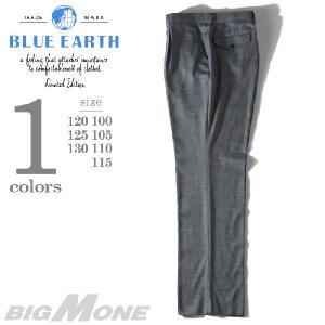 大きいサイズ メンズ BLUE EARTH ブルーアース ストレッチワンタックスラックス th63505b|bmo