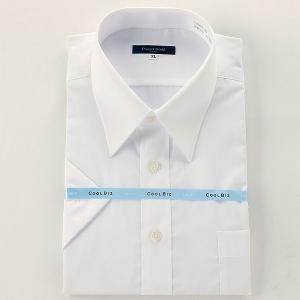 大きいサイズ メンズ 2点目半額 DANIEL DODD 半袖レギュラーワイシャツ 白ブロード無地  tos601-01-01  2L 3L 4L 5L 6L 7L|bmo