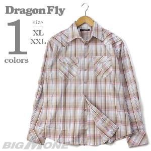 大きいサイズ メンズ XL・XXL DRAGONFLY 裏刺繍ウエスタンチェックシャツ USA直輸入 ws01-sf7|bmo