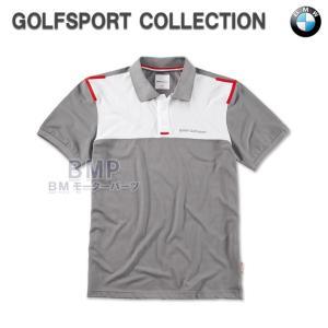 BMW純正 BMW GOLFSPORT COLLECTION ポロシャツ グレー(メンズ)|bmp