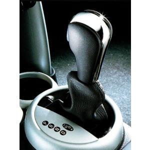 """BMW MINI アクセサリー MINI R50.R52 A/T用 セレクター・レバー""""クローム&レザー"""" bmp"""