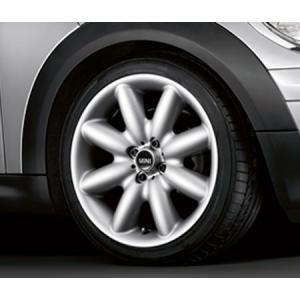 "BMW MINI 用 アルミホイール 7×17J ET48 ""S-スポーク R85(シルバー)"" R50/R52/R53/R55/R56/R57/R58/R59 bmp"