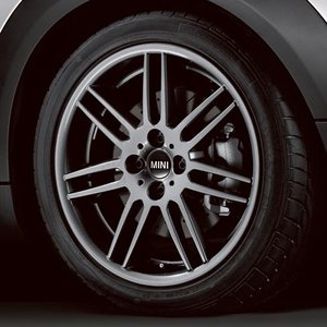 """BMW MINI 用 アルミホイール 7X17 ET48 """"ダブル・スポーク R99(グレー・メタリック)"""" R50/R52/R53/R55/R56/R57/R58/R59 bmp"""