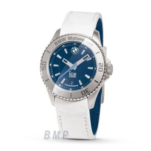 BMW純正 BMW MOTORSPORT ICE WATHCH STEEL UNISEX ホワイト&チーム・ブルー 時計