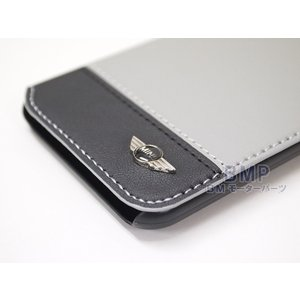 BMW MINI iPhone6 iPhone6s ケース PUレザー ブックタイプケース グレー MNFLBKP6BCGR 944247 bmp 03