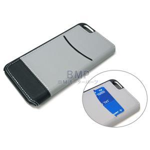 BMW MINI iPhone6 iPhone6s ケース PUレザー ブックタイプケース グレー MNFLBKP6BCGR 944247 bmp 04