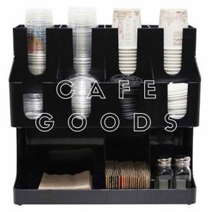 紙コップ クリアカップ ディスペンサー 分離型2段 11口用 ブラック  C19|bmt-store