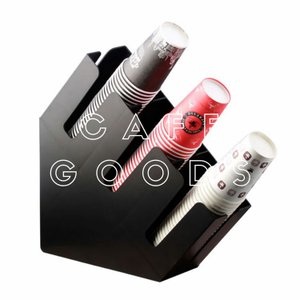 紙コップ クリアカップ ディスペンサー 3口用 マットブラック C15|bmt-store