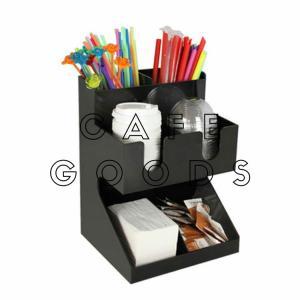 紙コップ クリアカップ ディスペンサー プラスチックダブル 6口用 ブラック C21|bmt-store