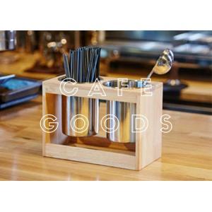 紙コップ クリアカップ ディスペンサー ウッドキューブミニ 2口用 C37|bmt-store