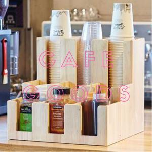 紙コップ クリアカップ ディスペンサー ウッドレゴ 9口用 Cuffy-W942|bmt-store