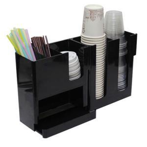 紙コップ テイクアウト おしゃれ クリアカップ カフェグッズ ディスペンサー プラスチック ドノディスペンサー ブラック Cuffy-A882|bmt-store